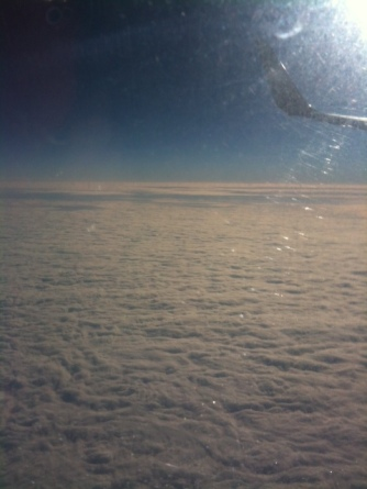 View from the plane on way to NYC.